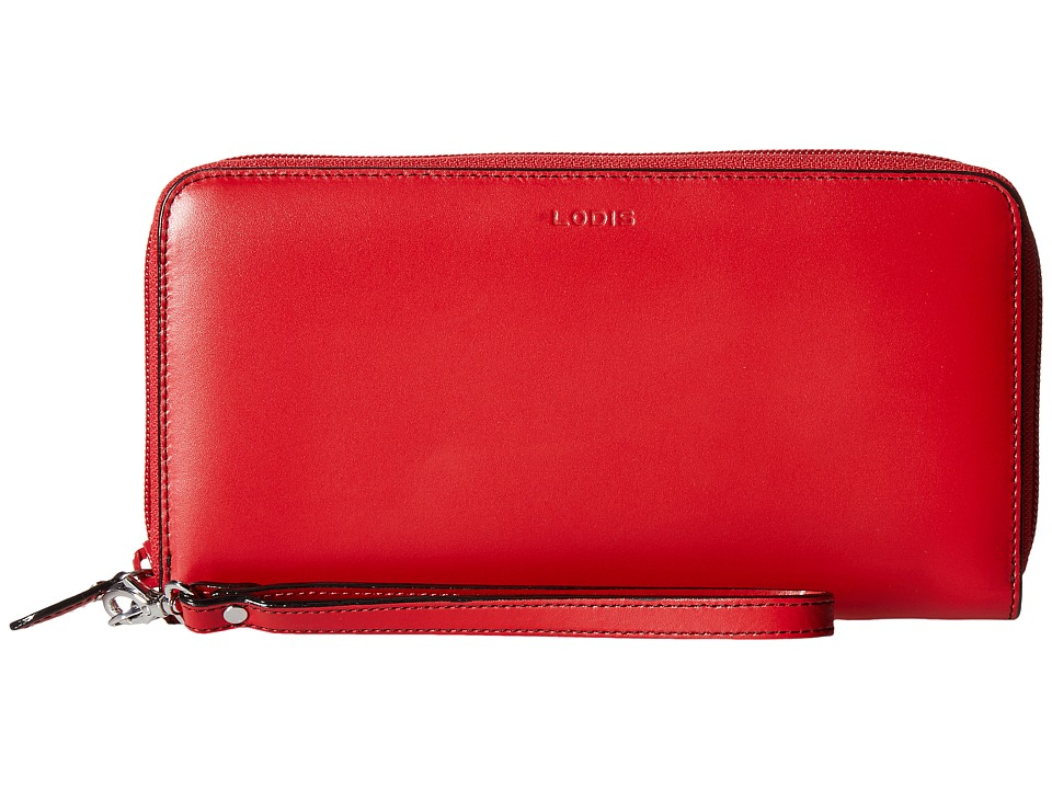 Lodis Accessories - Audrey Vera Wristlet Wallet (Red/Black) Wallet Handbags