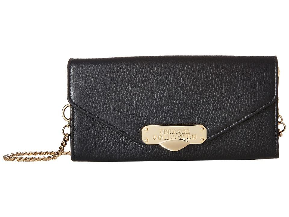 Versace Collection - Oro Chiaro Chain Crossbody (Nero) Cross Body Handbags