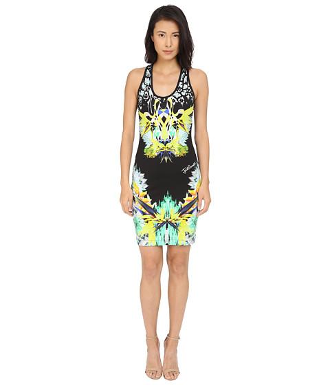Just Cavalli Fitted Printed Jersey Tank Dress Leo Giraffe Print