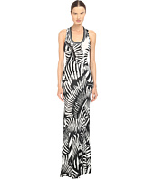 Just Cavalli - Kraken Print Sleeveless Maxi Jersey Dress