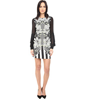 Just Cavalli - Maya Print Sheath Dress w/ Chiffon Sleeves