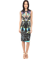 Just Cavalli - Coral Fish Allover Placed Print Sleeveless Dress