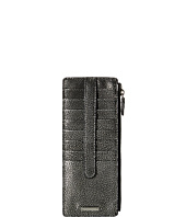 Lodis Accessories - Sophia Metallic Credit Card Case with Zipper Pocket
