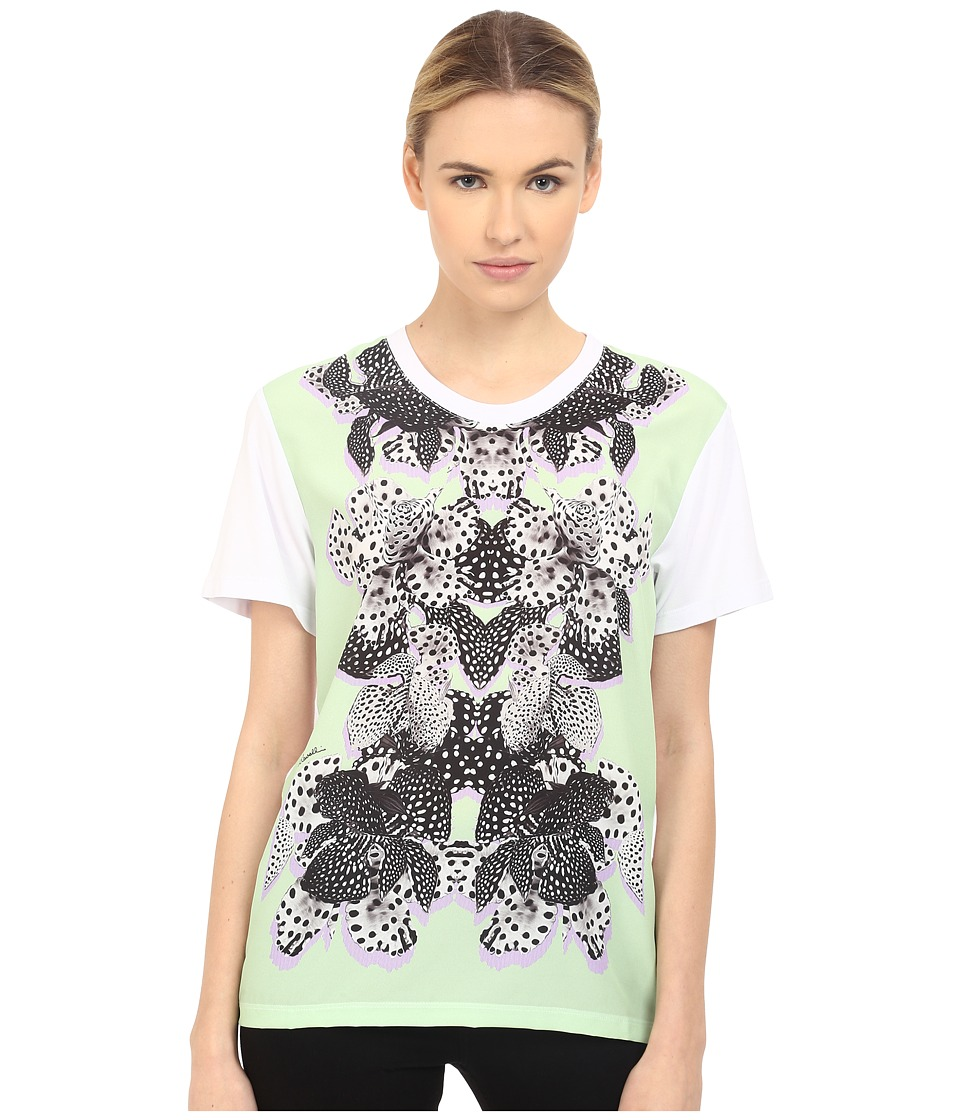 Just Cavalli Printed Panel T Shirt Chimera Print Lux Green Womens T Shirt