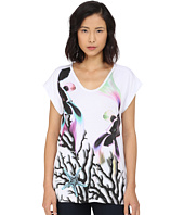 Just Cavalli - Coral Fish Print Viscose Boyfriend Tee