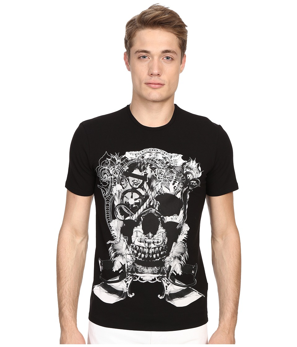 Just Cavalli Skull Jersey Tee Shirt Black Mens T Shirt
