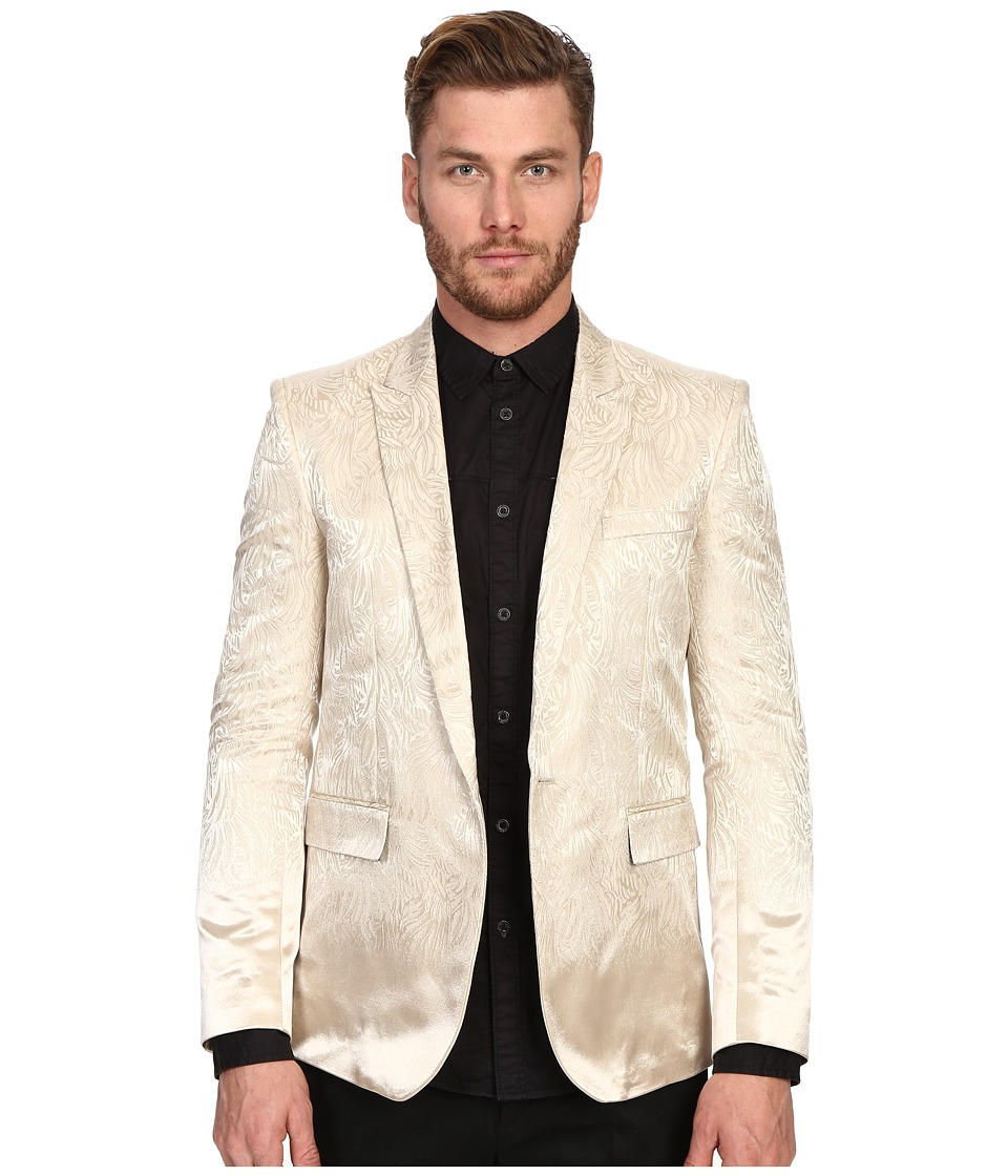 Just Cavalli Gold Statemented Blazer Light Gold Mens Jacket