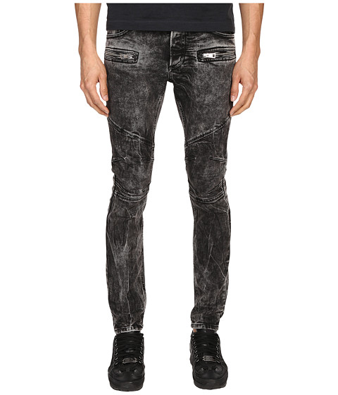 Just Cavalli Stripped Effect Moto Jeans