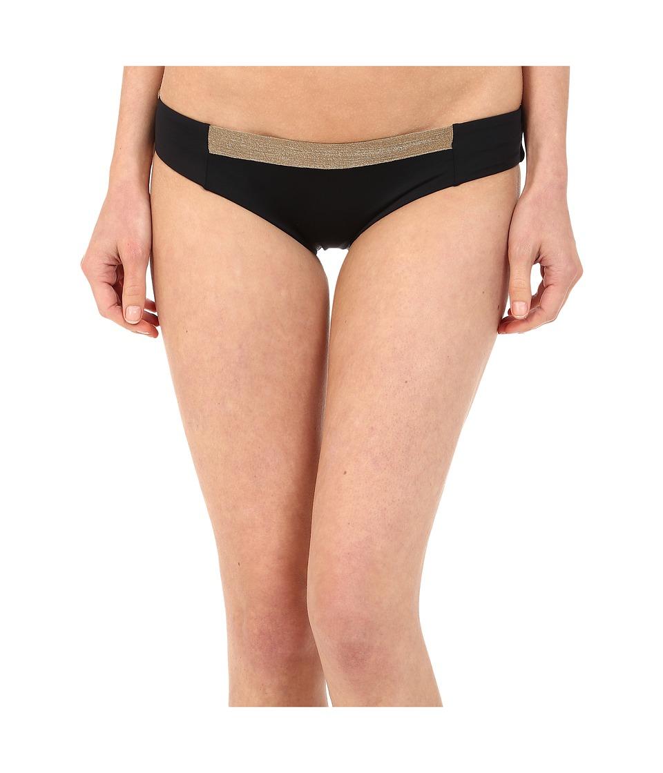 Vitamin A Swimwear Adriana Hipster Black/Bronze Color Block Womens Swimwear