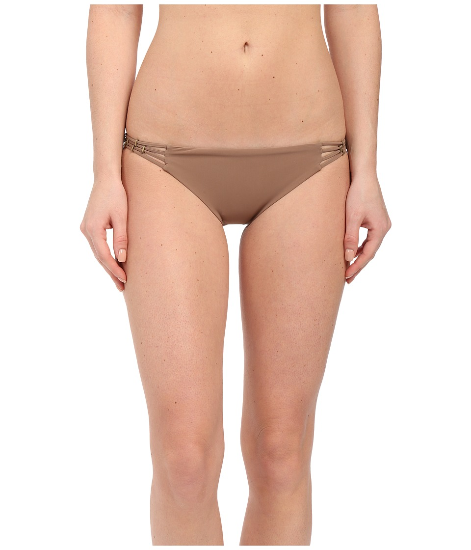 Vitamin A Swimwear Amber Beaded Hipster Full Sandstone Womens Swimwear