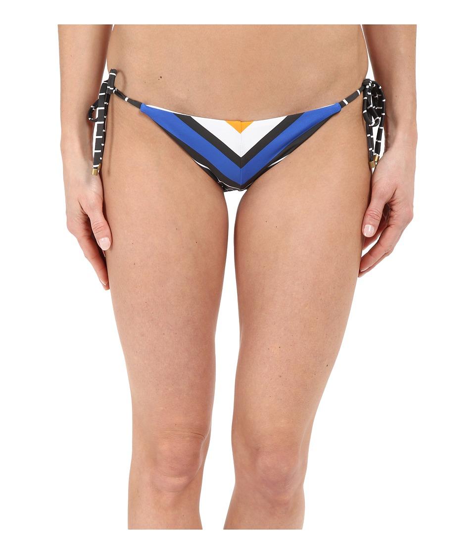 Vitamin A Swimwear Natalie Miter Stripe Tie Side Catamaran Stripe Womens Swimwear