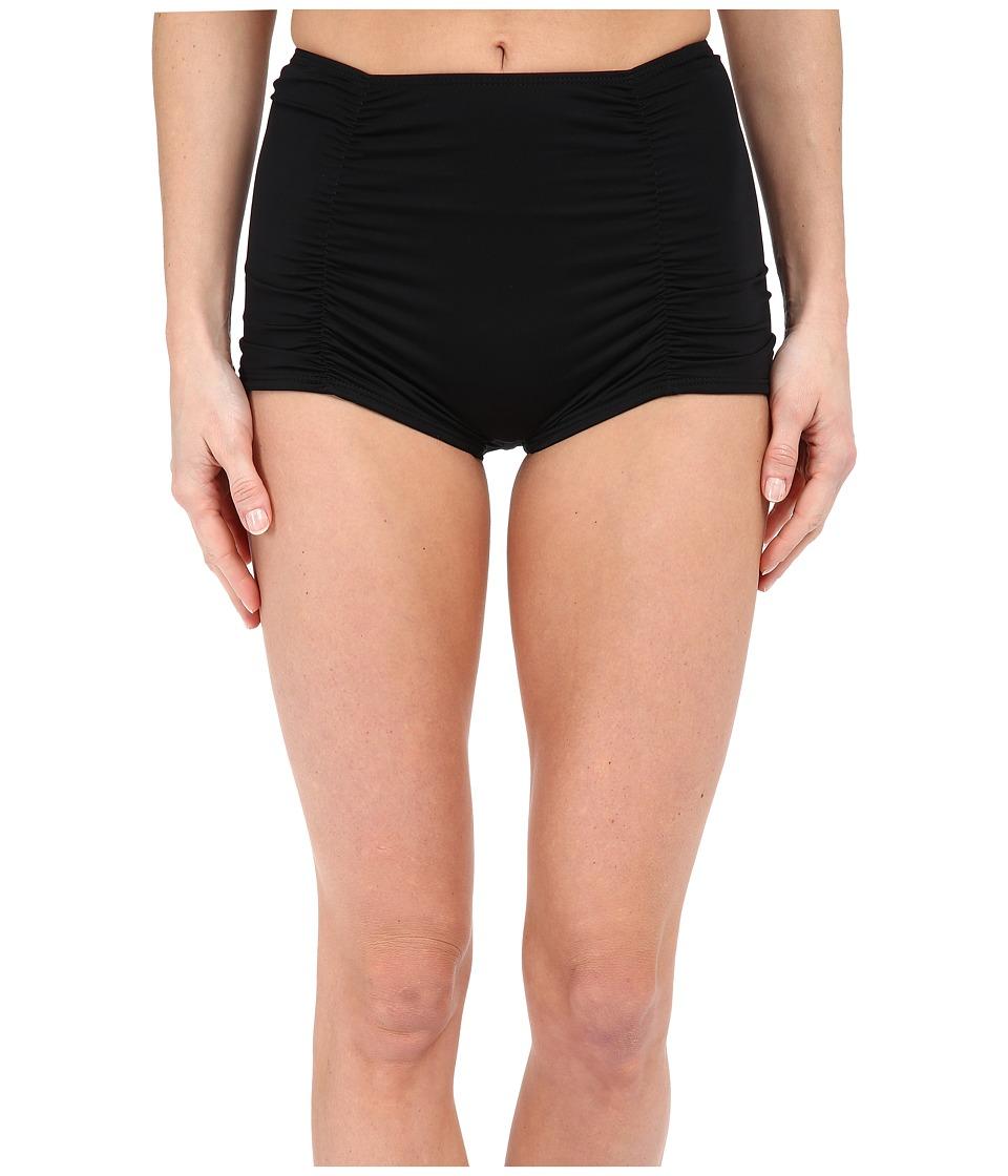 Vitamin A Swimwear Marilyn Tap Short Bottom Eco Black 1 Womens Swimwear