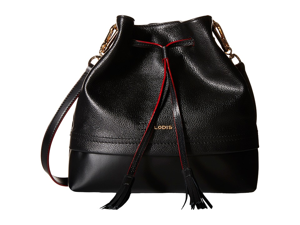 Lodis Accessories - Kate Cara Convertible Drawstring (Black) Drawstring Handbags