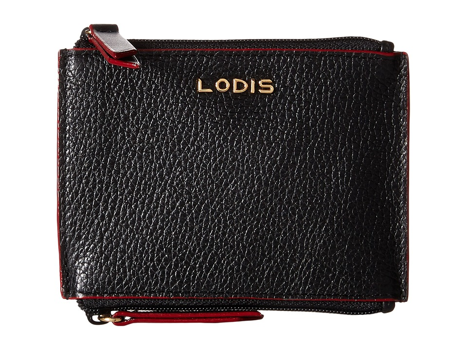 Lodis Accessories - Kate Frances Double Zip Pouch (Black) Wallet Handbags