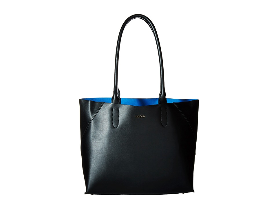 Lodis Accessories - Blair Cynthia Tote (Black/Cobalt) Tote Handbags