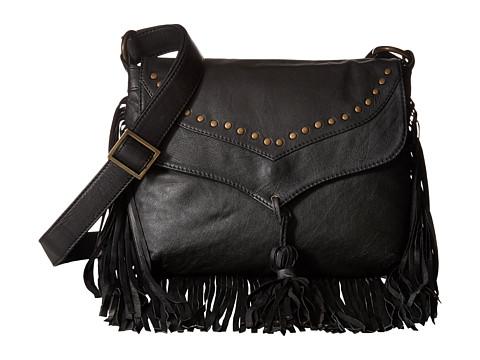 Scully Aurore Leather Fringe Bag - Black