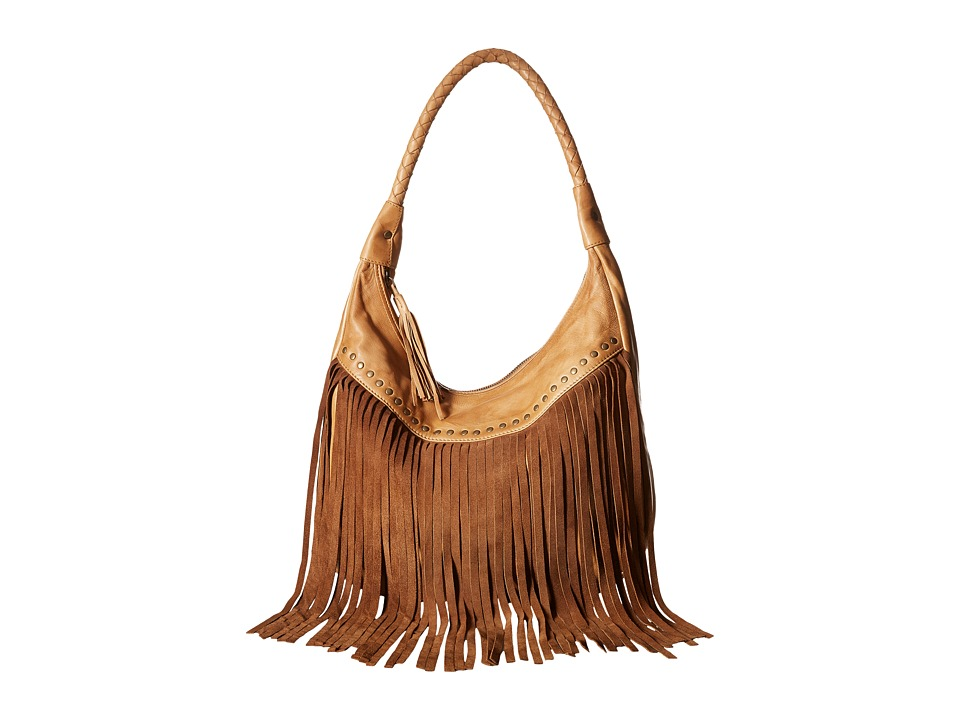 Scully - Oh So Soft Leather Fringe Bag (Tan) Bags
