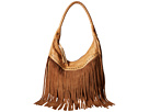 Scully Oh So Soft Leather Fringe Bag (Tan)