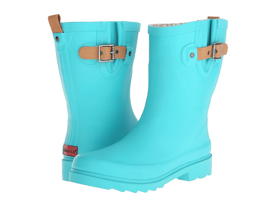 Chooka - Top Solid Mid Rain Boot (Turquoise) Women