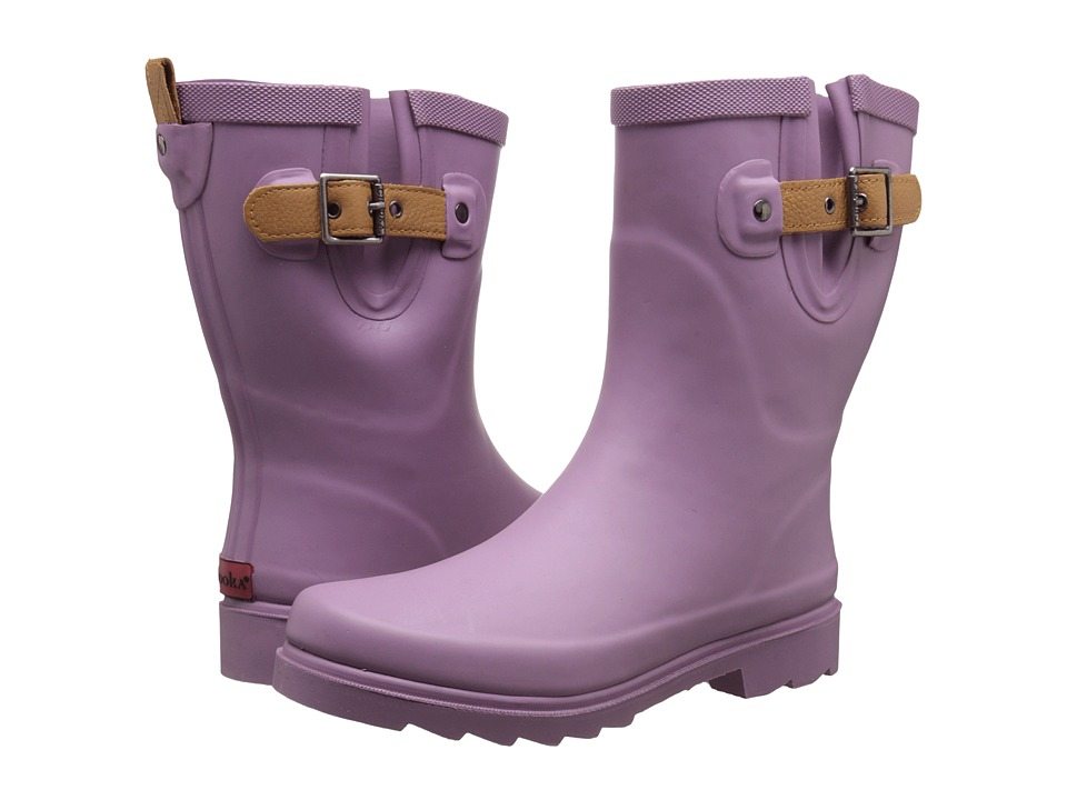 Chooka - Top Solid Mid Rain Boot (Lavender) Women