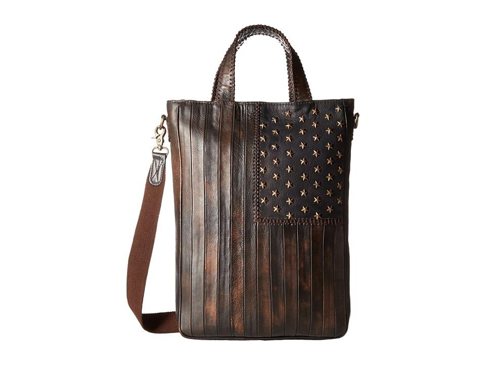 Scully Leather Patriotic Rockin Tote (Multi) Tote Handbags