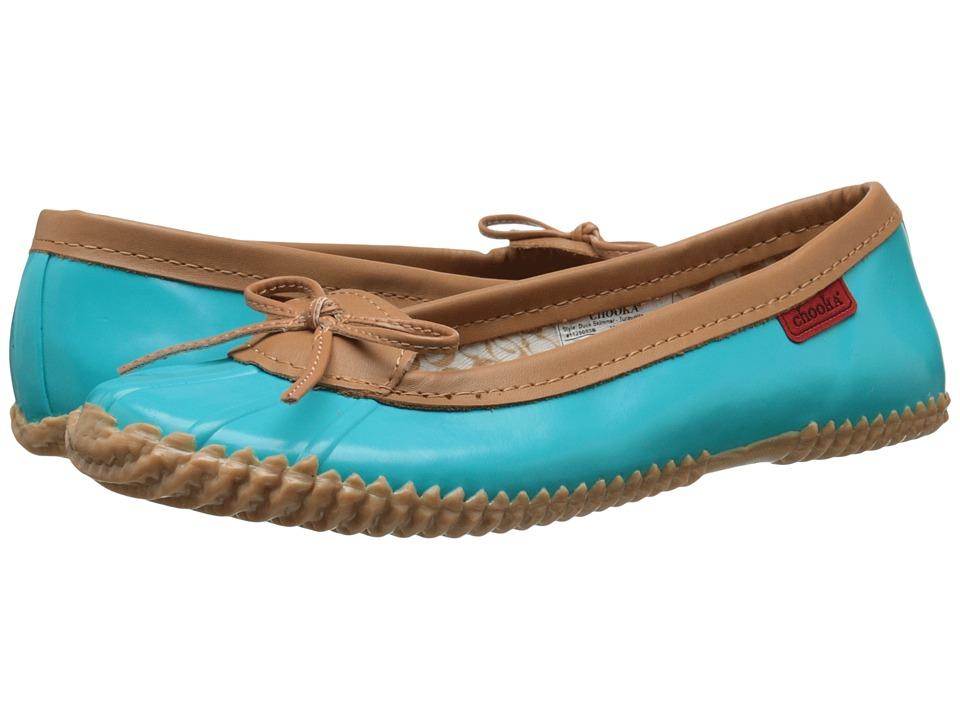 Chooka Duck Skimmer Turquoise Womens Flat Shoes