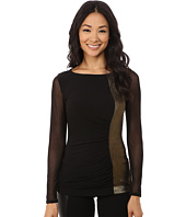 Anne Klein - Long Sleeve Rouched Top