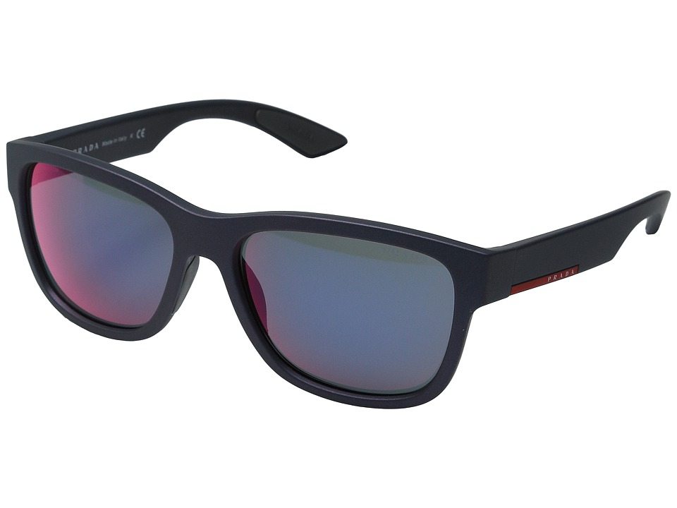 Prada Linea Rossa 0PS 03QS Shot Grey Rubber/Dark Grey Mirror Fashion Sunglasses