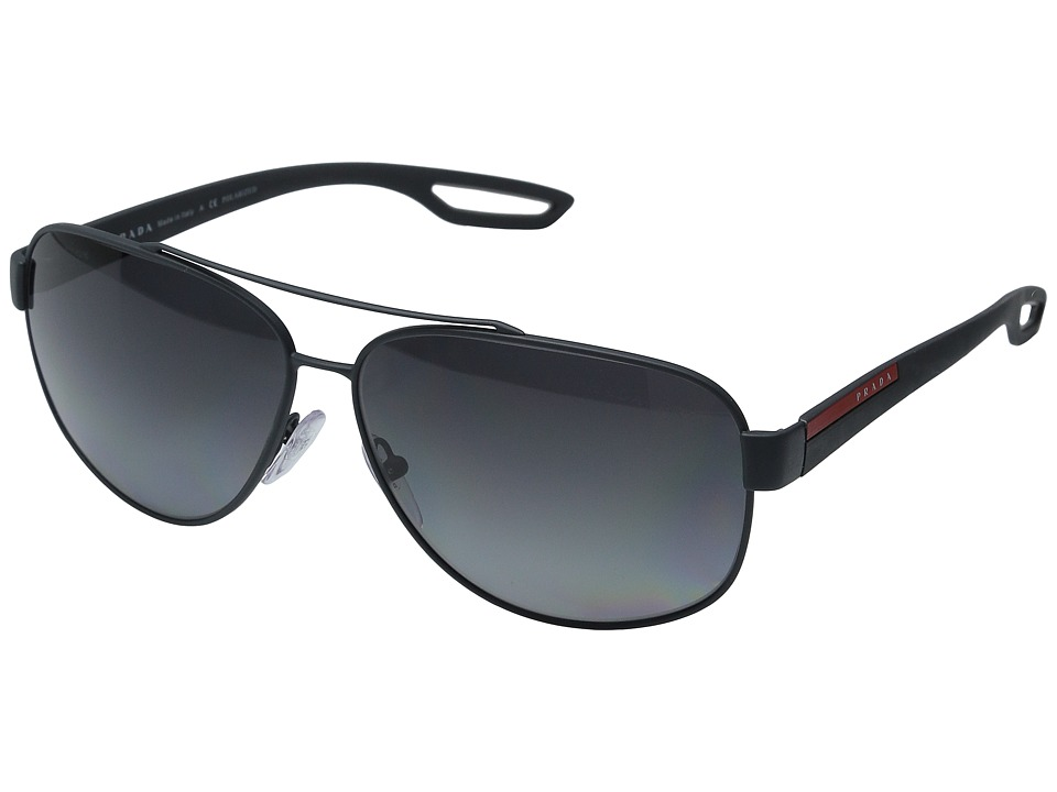 Prada Linea Rossa 0PS 58QS Grey Rubber/Polarized Grey Fashion Sunglasses