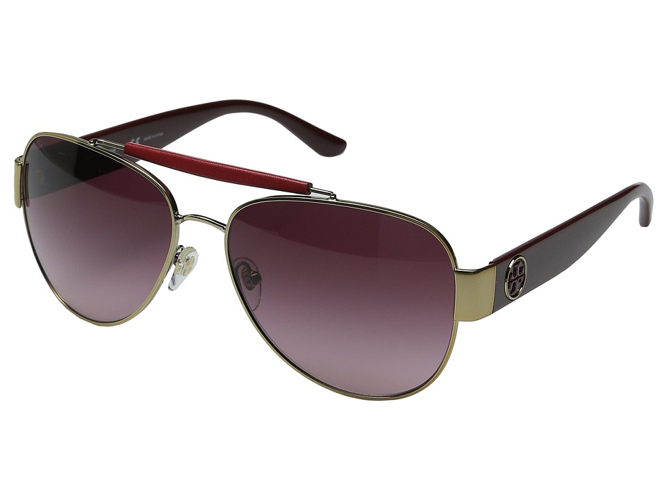 Tory Burch 0TY6043Q Gold/Bordeaux/Burgundy Gradient Fashion Sunglasses