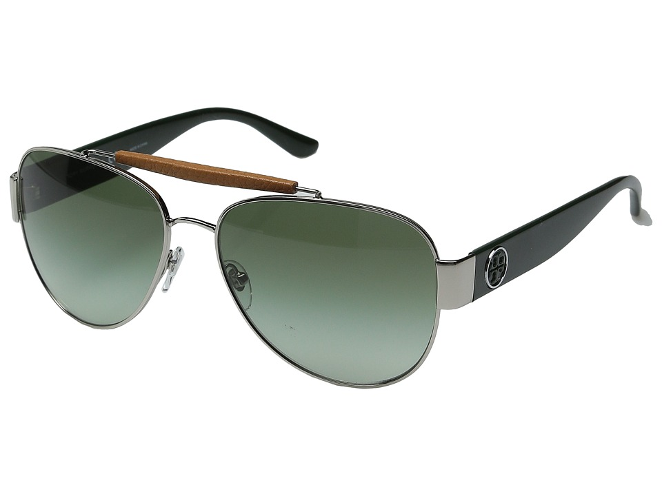 Tory Burch 0TY6043Q Silver/Racing Green/Dark Green Gradient Fashion Sunglasses