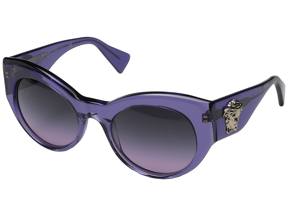 Versace VE4297 Transparent Violet/Light Violet Gradient Fashion Sunglasses