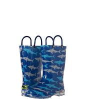 Western Chief Kids - Deep Sea Sharks Lighted Rain Boot(Toddler/Little Kid)