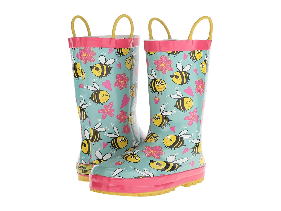 Western Chief Kids Busy Bees Toddler/Little Kid Turquoise Girls Shoes