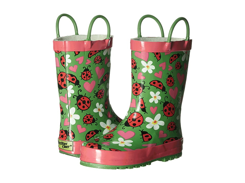 Western Chief Kids Lovely Ladybugs Toddler/Little Kid Green Girls Shoes