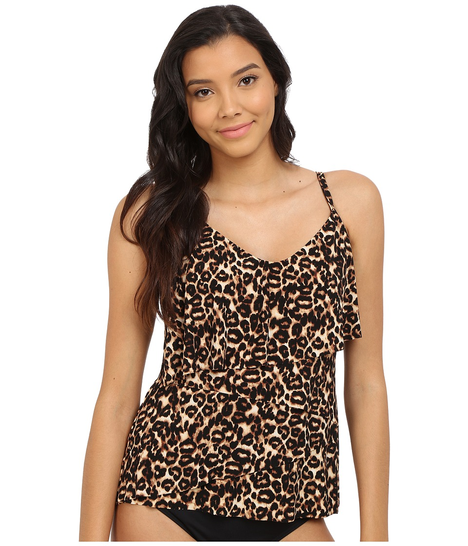 Magicsuit Cougar Chloe Soft Cup Tankini Top Brown Womens Swimwear