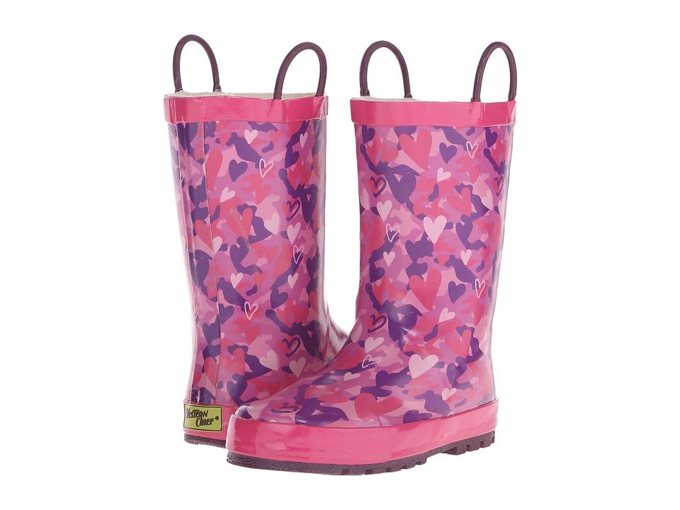 Western Chief Kids Heart Camo Toddler/Little Kid/Big Kid Pink Girls Shoes