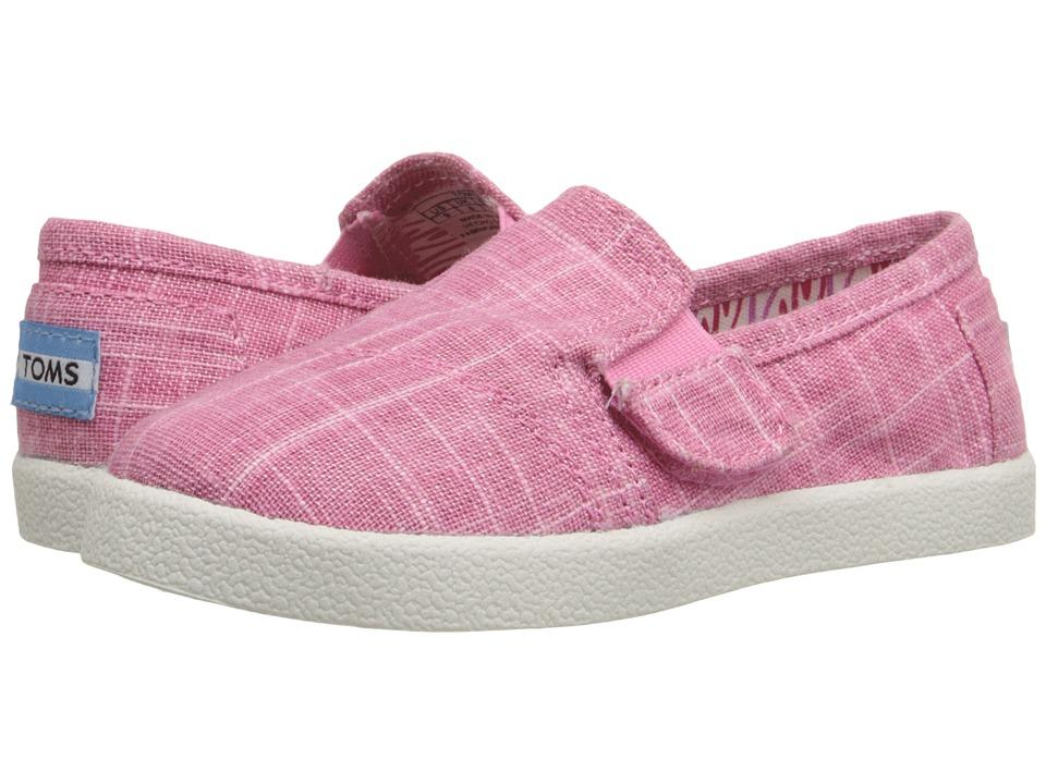 TOMS Kids Avalon Slip On Infant/Toddler/Little Kid Pink Metallic Linen Kids Shoes