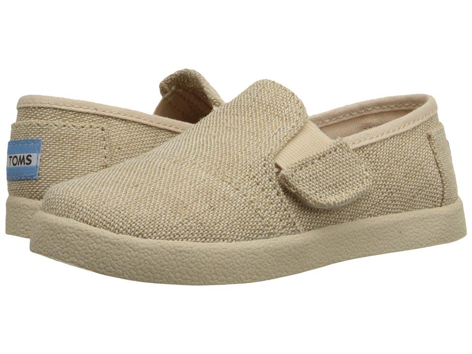 TOMS Kids Avalon Slip On Infant/Toddler/Little Kid Natural Burlap Kids Shoes