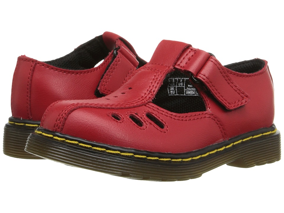 Dr. Martens Kids Collection Ashby I Toddler Red Girls Shoes