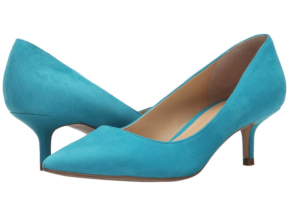 Ivanka Trump Athyna Light Blue Suede Womens Shoes