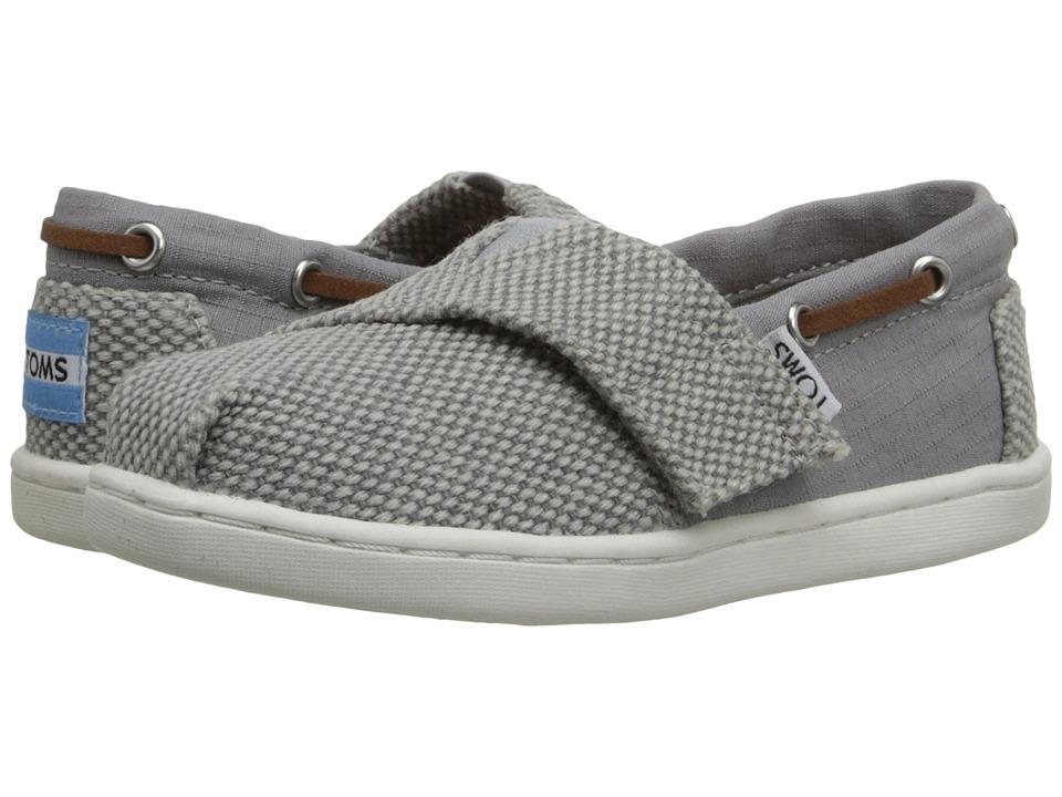 TOMS Kids Bimini Espadrille Infant/Toddler/Little Kid Grey Farren/Cotton Ripstop Kids Shoes