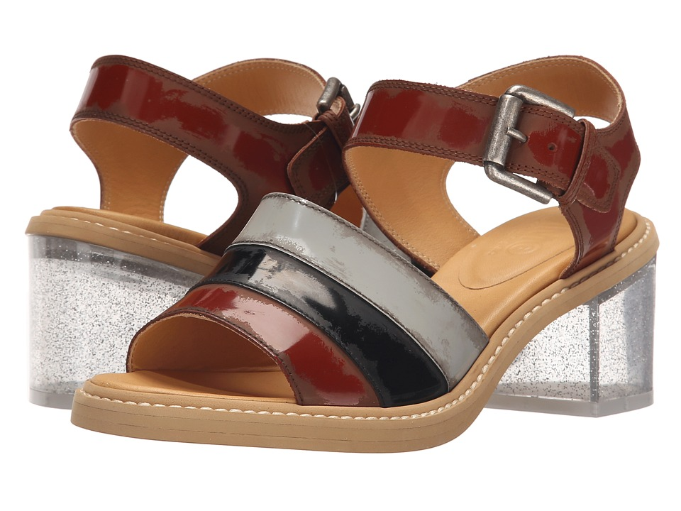 MM6 Maison Margiela Glitter Heel Sandal Brown/Light Grey/Black Womens Shoes