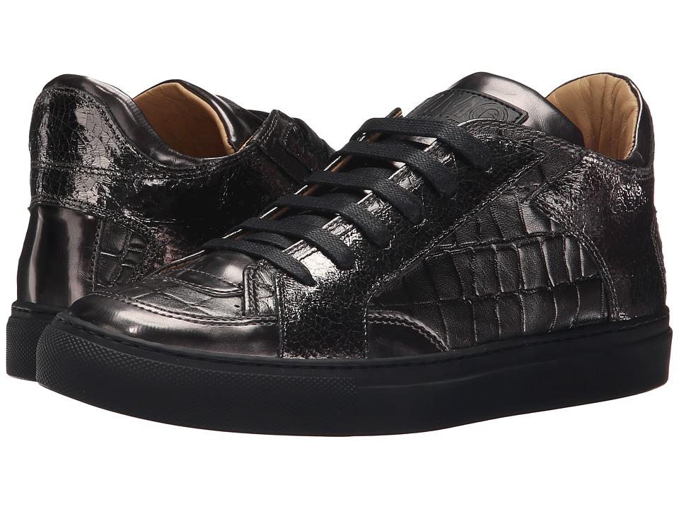 MM6 Maison Margiela Logo Low Top Sneaker Gunmetal Multi Womens Shoes
