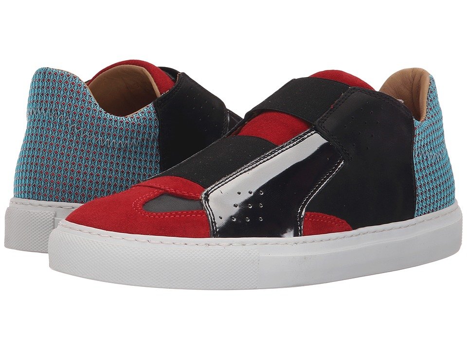 MM6 Maison Margiela - Elastic Center Slip-On (Light Blue/Red/Gunmetal) Women