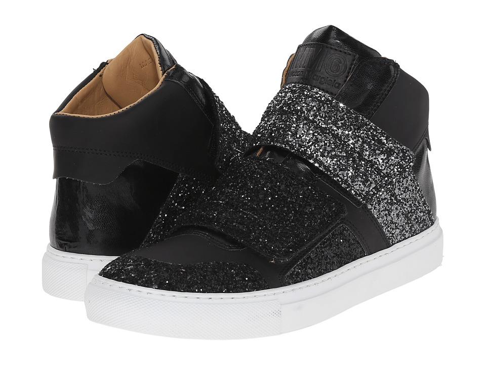 MM6 Maison Margiela Glitter Strap High Top Gunmetal/Black Glitter Womens Shoes
