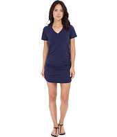 Tommy Bahama - Knit & Chiffon Shirred T-Shirt Dress Cover-Up