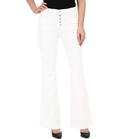 J Brand - Maria Flare w/ Exposed Button Fly in Blanc