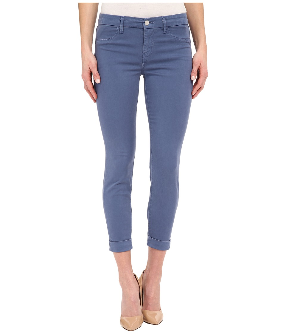 J Brand Anja Cuffed Ankle Crop in Moonlight Blue Moonlight Blue Womens Jeans
