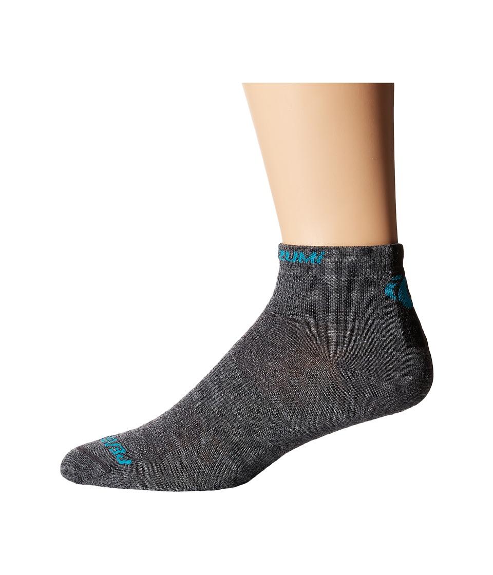 Pearl Izumi Elite Low Wool Sock Shadow Grey Mens Crew Cut Socks Shoes